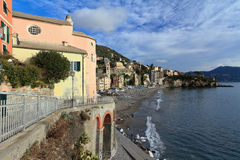 Liguria - Sori, Italy. Promenade and seaside in Sori, Italy Royalty Free Stock Photo