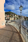 Liguria - Sori. Promenade and seaside in Sori, small village in Liguria, Italy Royalty Free Stock Image