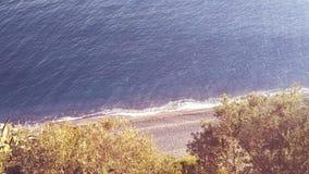 Ligurian взгляд пляжа от верхней части стоковая фотография
