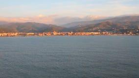 Ligurian Albisola-Марина побережья, Савона, Италия сток-видео