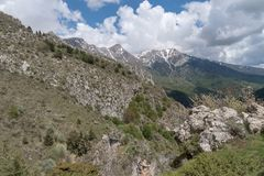 Ligurian Alps, Italy. Landscape from Ligurian mountains part of Italian Alps Royalty Free Stock Photo