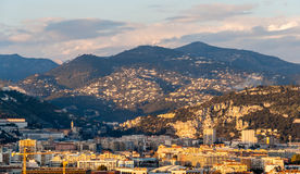 Ligurian Alps in Nice, Côte d'Azur, France Royalty Free Stock Photos