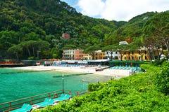 Ligurian beach Stock Photos
