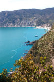 Ligurian coast at Cinque terre, Italy. Royalty Free Stock Photos
