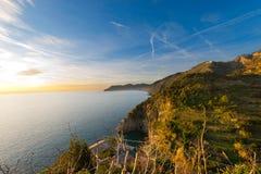 Ligurian Coastline - Cinque Terre Italy Royalty Free Stock Image