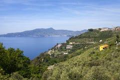 Ligurian coastline panorama, springtime. Color image Stock Photo