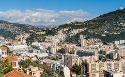 Ligurian fjällängar i Nice, Cote d'Azur - Frankrike Arkivbilder