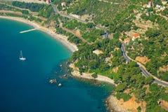 Ligurian kust stock afbeelding