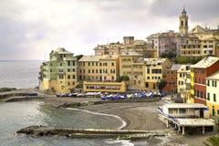 Ligurian kustdorp Stock Afbeelding