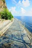Ligurian kustweglandschap Stock Afbeelding
