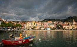 Ligurian Prentbriefkaar Stock Afbeeldingen