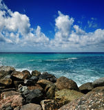 Ligurian sea background Royalty Free Stock Images