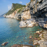 Ligurian sea , Italy Royalty Free Stock Photography