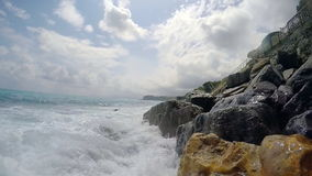 Ligurian Sea. Itay. Slow motion stock video footage