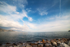 Ligurian sea at Santa Margherita, Italy. Stock Photos