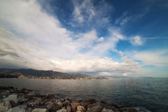 Ligurian sea at Santa Margherita, Italy. Ligurian sea coast at Santa Margherita Ligure, Italy Royalty Free Stock Photos