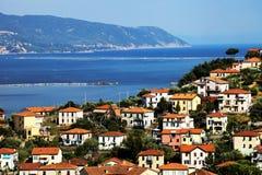 ligurian spezia för kusthamnla arkivfoton