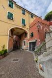 Ligurian urban architecture stock image