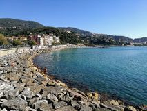Ligurian village. View a portion of the sea of a Ligurian village on a sunny day Royalty Free Stock Photo