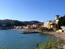 Ligurian village. View a portion of the sea of a Ligurian village on a sunny day Stock Photos