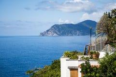Ligurier Küste Italiens Cinque Terre seaview stockbild