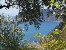 Liguryjski morze, Włochy Zdjęcia Stock