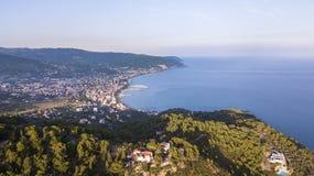 Liguryjski wybrzeże Diano Marina zdjęcia royalty free