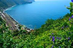 Liguryjskiego morza widok Obraz Royalty Free