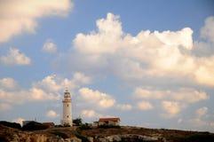Lihgthouse in Paphos. Lighthouse on Mediterranean coast - Pafos Cyprus Stock Photo