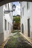 Liitle bakgata av Lissabon Arkivfoto