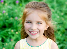 Liitle girl close-up Stock Photos