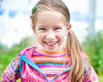 Liitle girl close-up Royalty Free Stock Image