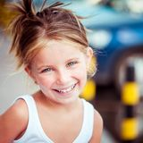 Liitle girl close-up Stock Photography