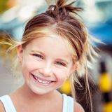 Liitle girl close-up Royalty Free Stock Photography