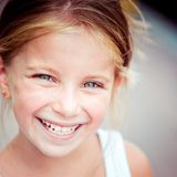 Liitle girl close-up Royalty Free Stock Photo