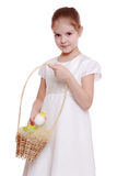 Liitle girl preparing for Easter Royalty Free Stock Images
