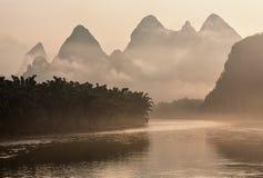 Lijang river in China. Royalty Free Stock Images