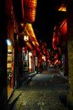 lijiang晚上购物 免版税库存照片