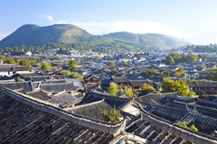 Lijiang老城镇早晨,中国 免版税库存照片