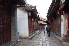 Lijiang老城镇,科教文组织世界遗产。 免版税库存照片