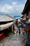 Lijiang ancient street. China rare preservation of the ancient city of a fairly well preserved minority, concentrated the essence of the Naxi culture, the full Stock Photography