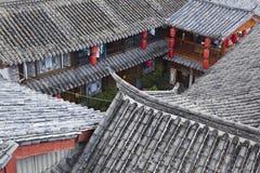 Lijiang: casas do chinês tradicional Imagem de Stock Royalty Free