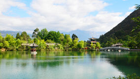 Lijiang,china: black dragon pool pagoda Stock Images