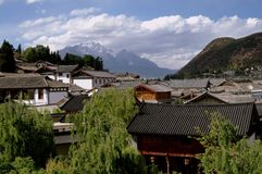 Lijiang, China: Casas antigas de Naxi Fotos de Stock Royalty Free