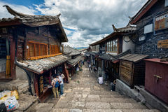 LIJIANG, CHINA - June 21, 2015: Dayan old town street in Lijiang Stock Photo