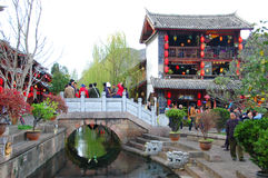 LIJIANG, CHINA. MARCH 21 : LIJIANG old town on March 21, 2008 in, Lijiang,Yunnan, China. One of the famous China's tourism destination Royalty Free Stock Photo