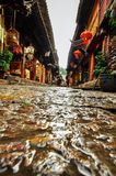 Lijiang China old town streets and buildings Stock Photo