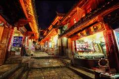 Lijiang China Van de binnenstad stock foto's