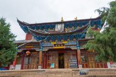 LIJIANG, CHINE - 7 SEPTEMBRE 2014 : Monastère de Fuguo un monastère célèbre Images libres de droits