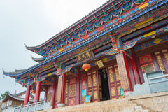 LIJIANG, CHINE - 7 SEPTEMBRE 2014 : Monastère de Fuguo un monastère célèbre Photographie stock libre de droits